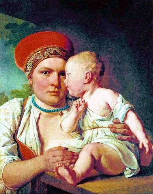 Описание картины Алексея Венецианова «Кормилица с ребенком»