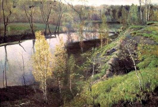 Описание картины Ильи Остроухова «Первая зелень»