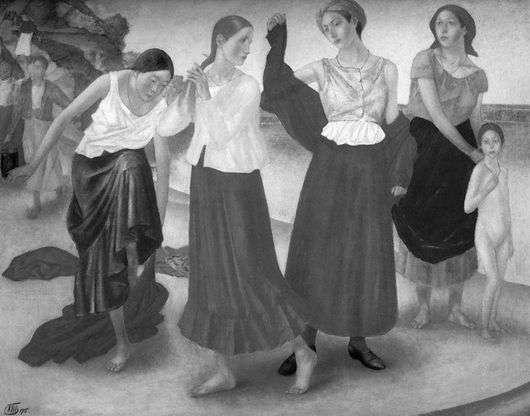 Описание картины Кузьмы Петрова Водкина «Девушки на Волге»