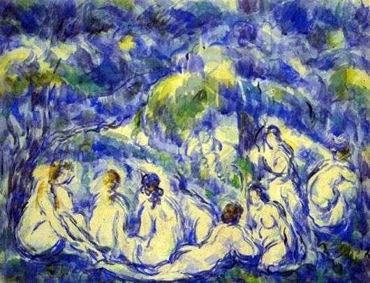 Описание картины Поля Сезанна «Купальщицы»