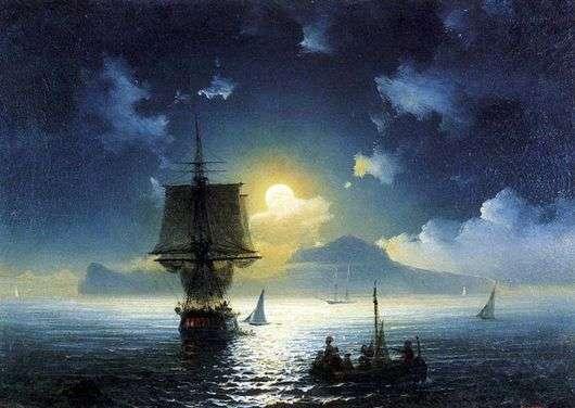 Описание картины Ивана Айвазовского «Лунная ночь на Капри»