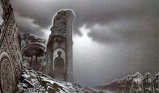 Описание картины Константина Васильева «Нашествие»