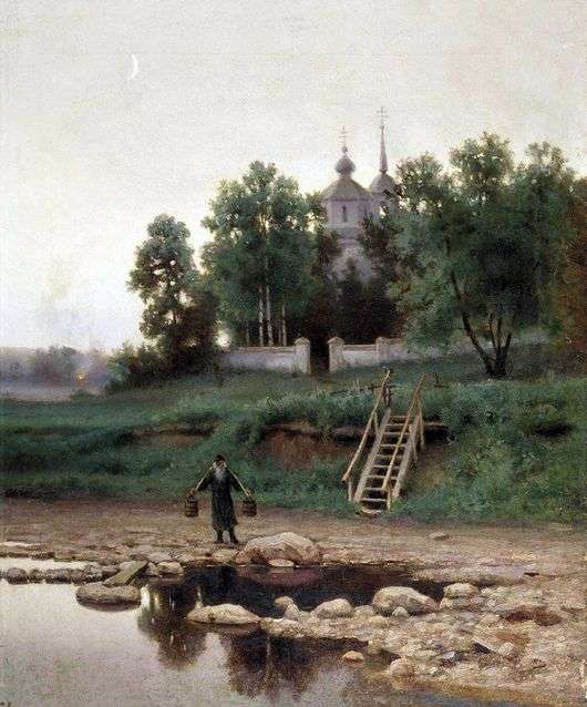 Описание картины Ефима Волкова «У монастыря»