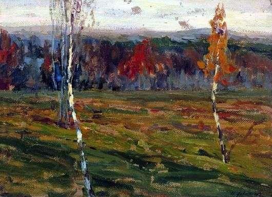 Описание картины Исаака Левитана «Осень. Березки»