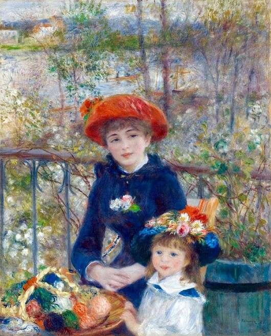 Описание картины Пьера Огюста Ренуара «На террасе» (Две сестры)