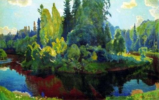 Описание картины Аркадия Рылова «На природе»