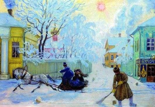 Описание картины Бориса Кустодиева «Морозный день»