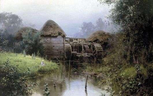 Описание картины Василия Поленова «Старая Мельница»