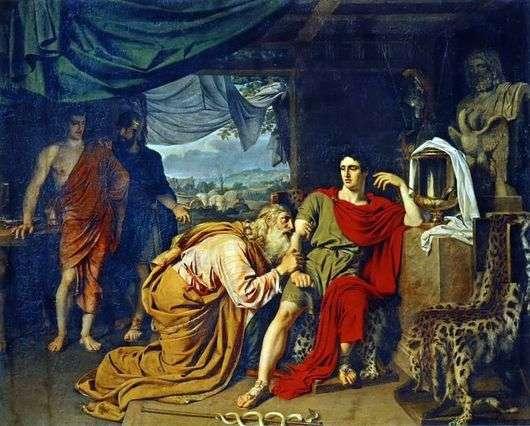 Описание картины Александра Иванова «Приам, испрашивающий у Ахиллеса тело Гектора»