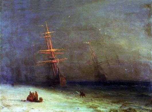 Описание картины Ивана Айвазовского «Буря на северном море»