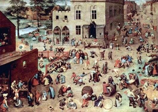 Описание картины Питера Брейгеля «Игры детей»
