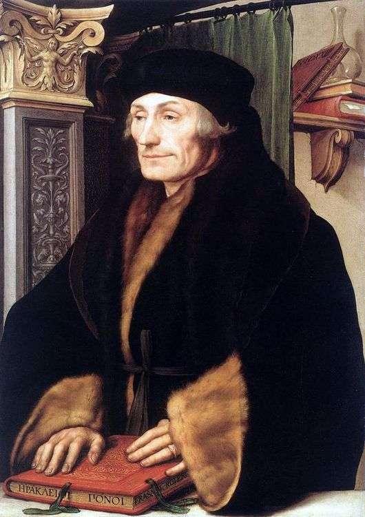Описание картины Ганса Гольбейна Младшего «Эразм Ротердамский»