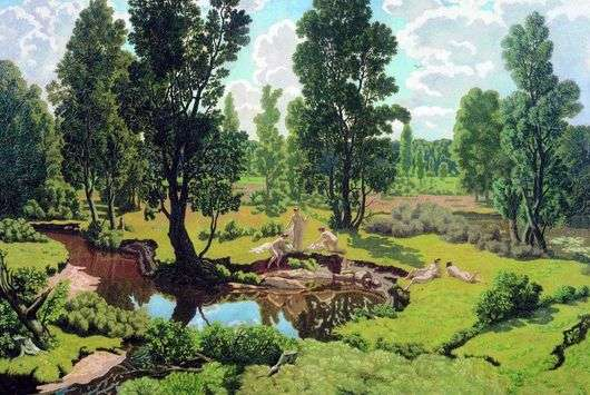 Описание картины Николая Крымова «Летний день»