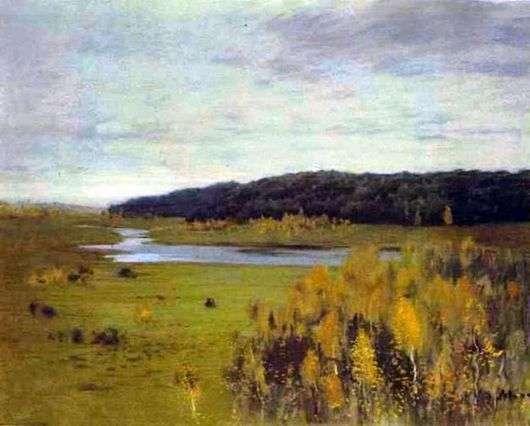 Описание картины Исаака Левитана «Долина реки»