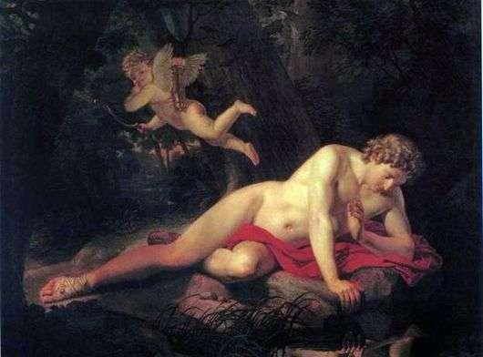 Описание картины Карла Брюллова «Нарцисс смотрящий в воду»