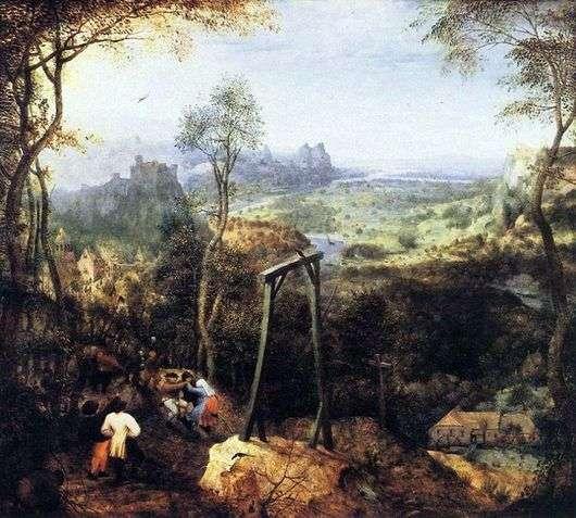 Описание картины Питера Брейгеля «Сорока на виселице»