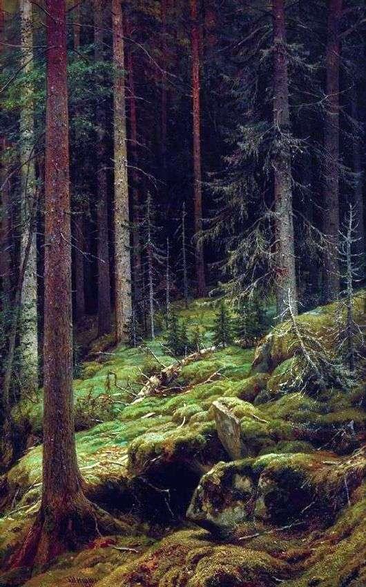 Описание картины Ивана Шишкина «Дебри»