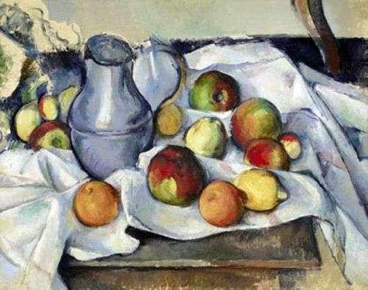 Описание картины Поля Сезанна «Натюрморт. Кувшин и фрукты»