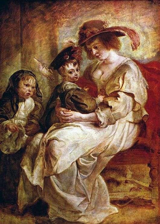 Описание картины Питера Рубенса «Елена Фоурмен с детьми»