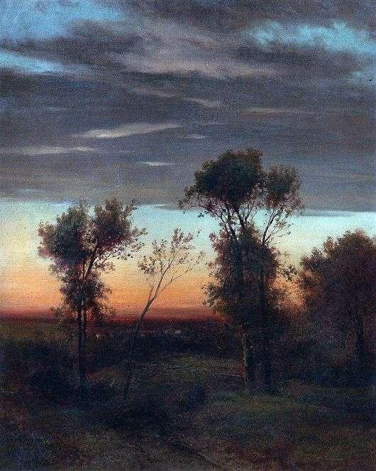 Описание картины Алексея Саврасова «Вечер»