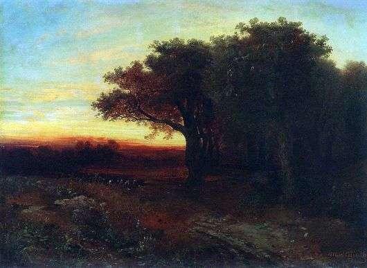 Описание картины Алексея Саврасова «Закат»