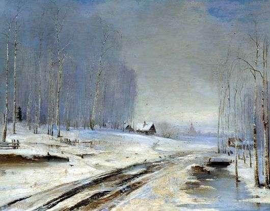 Описание картины Алексея Кондратьевича Саврасова «Распутица»