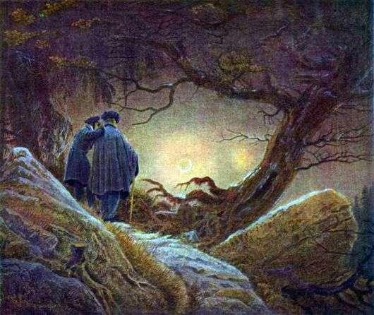 Описание картины Каспара Давида Фридриха «Закат солнца»
