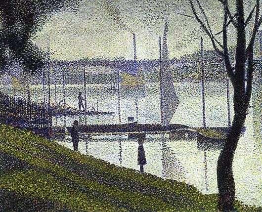Описание картины Жоржа Пьера Сёра «Мост в Курбвуа»