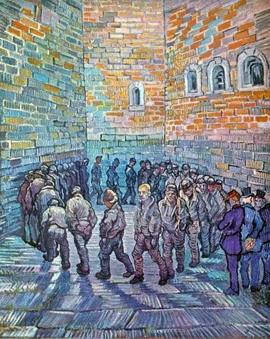 Описание картины Винсента Виллема Ван Гога «Прогулка заключенных»