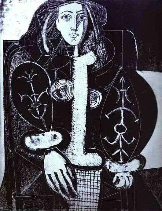 Описание картины Пабло Пикассо «Женщина в кресле I»