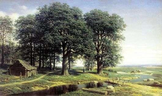Описание картины Михаила Константиновича Клодта фон Юргенсбурга «Дубовая роща»