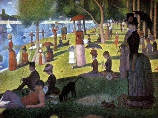 Описание картины Жоржа Пьера Сёра «Воскресная прогулка на острове Гранд Жатт»