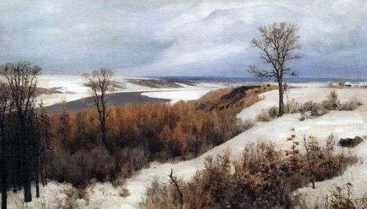 Описание картины Василия Дмитриевича Поленова «Ранний снег»