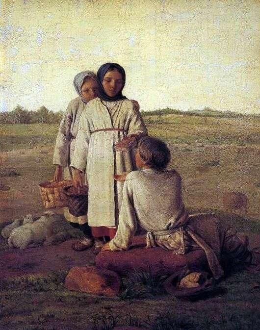 Описание картины Алексея Венецианова «Крестьянские дети в поле»