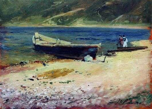 Описание картины Исаака Левитана «Лодка на берегу»