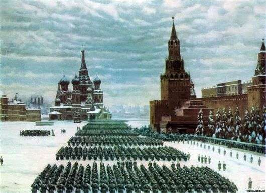 Описание картины Константина Юона «Парад на Красной площади»
