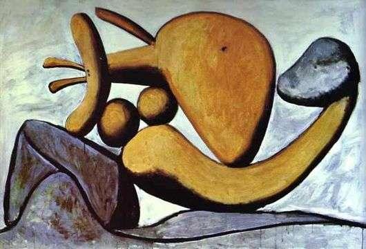Описание картины Пабло Пикассо «Девушка бросающая камень»