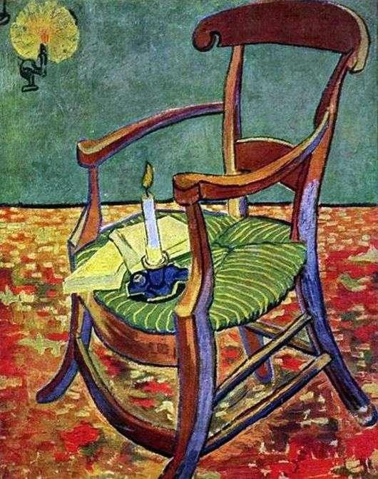 Описание картины Винсента Ван Гога «Кресло Гогена» (Стул)