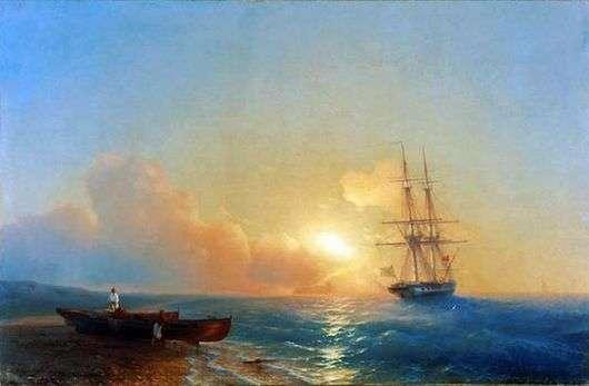 Описание картины Ивана Айвазовского «Рыбаки на берегу моря»