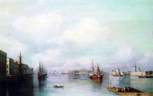 Описание картины Ивана Айвазовского «Вид Петербурга»