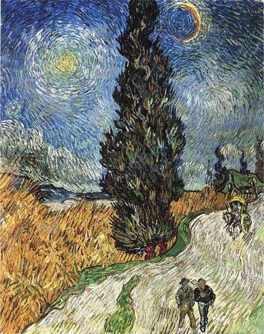 Описание картины Винсента Ван Гога «Дорога с кипарисами и звездой»