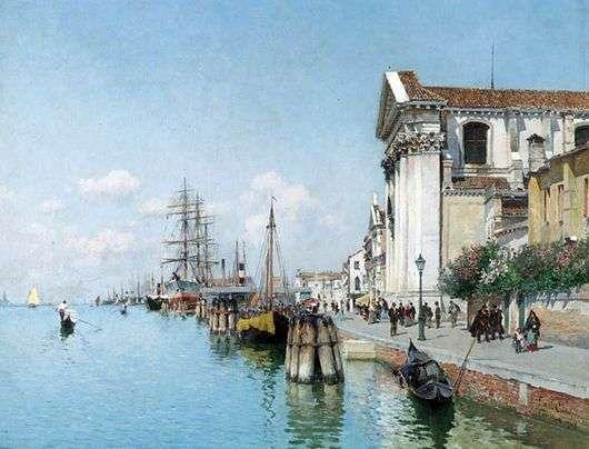 Описание картины Федерико Дель Кампо «Венеция»