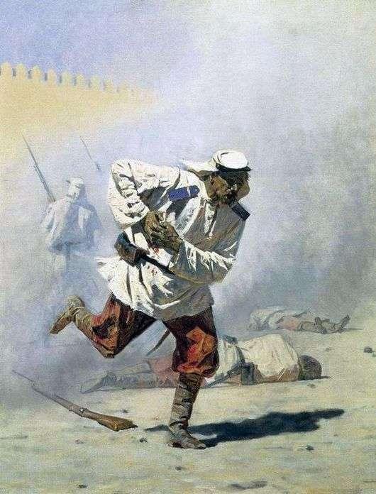 Описание картины Василия Верещагина «Смертельно раненный»