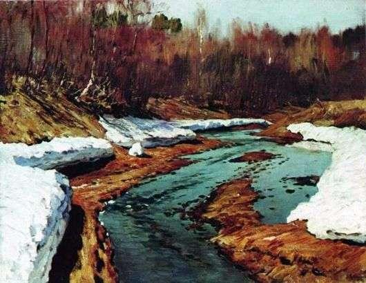 Описание картины Исаака Левитана «Весна. Последний снег»