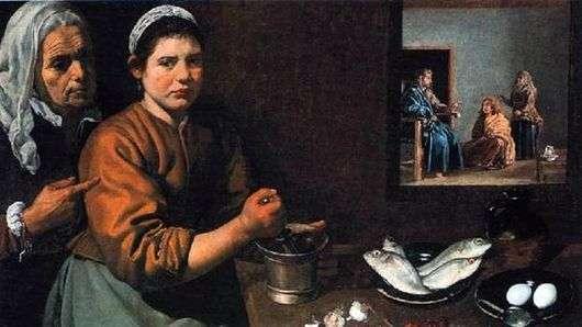Описание картины Диего Веласкеса «Христос в Доме Марфы и Марии»