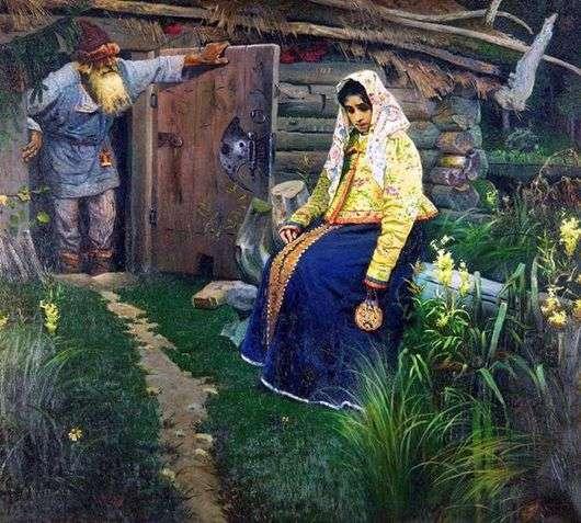 Описание картины Михаила Нестерова «За приворотным зельем»