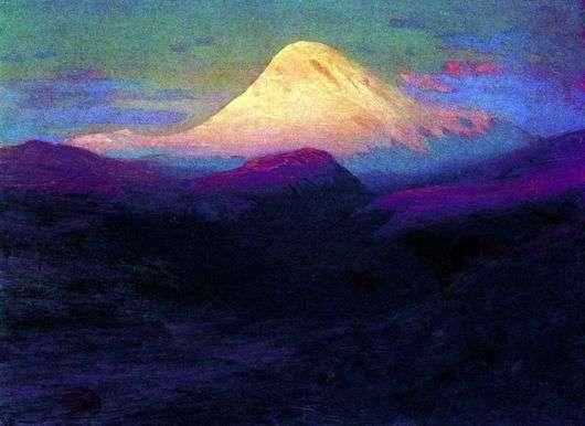 Описание картины Архипа Куинджи «Эльбрус вечером»