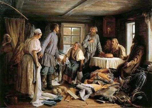 Описание картины Василия Максимова «Семейный раздел»