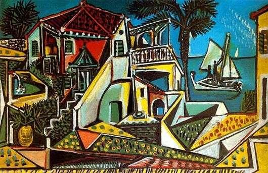 Описание картины Пабло Пикассо «Средиземноморский пейзаж»