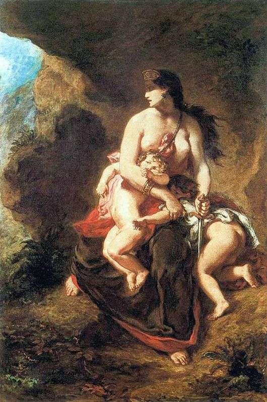Описание картины Эжена Делакруа «Медея»